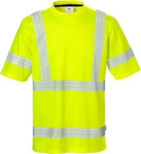 Fristads - High Vis T-Shirt Kl. 3 7407 THV Warnschutz-Gelb 4XL