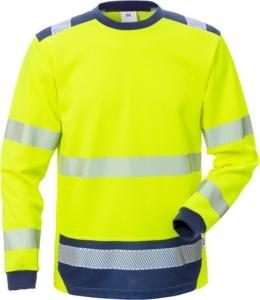 Fristads - High Vis T-Shirt Langarm KL. 3 7724 THV Warnschutz-Gelb/Marine 4XL