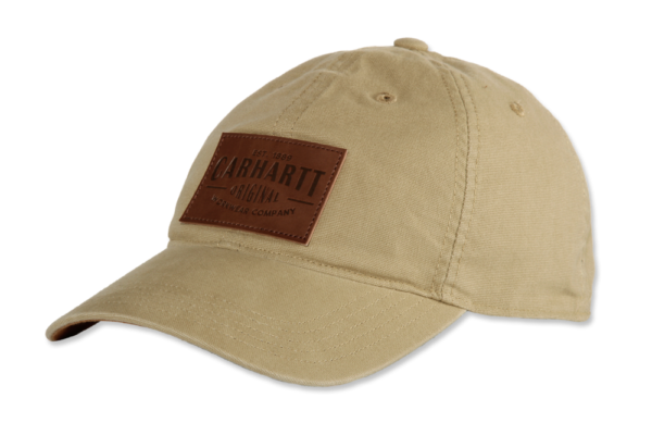 Carhartt - M RIGBY STRETCH FIT LEATHERETTE PATCH CAP L/XL DARK KHAKI