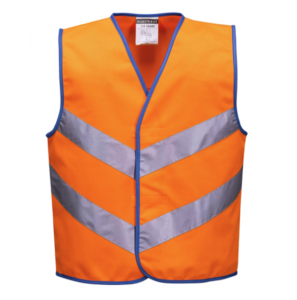 Kids High Vis Weste Orange S