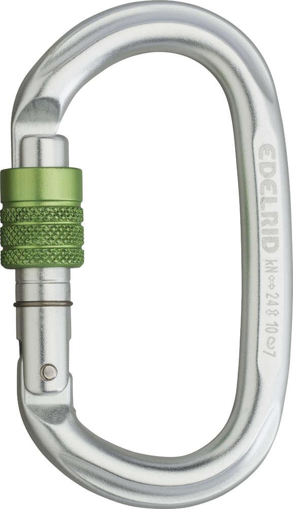 Edelrid - Oval Power 2400 Screw-Lock (Silver)