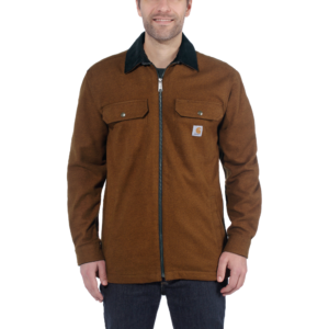 Carhartt - PAWNEE ZIP SHIRT JAC XXL OILED WALNUT