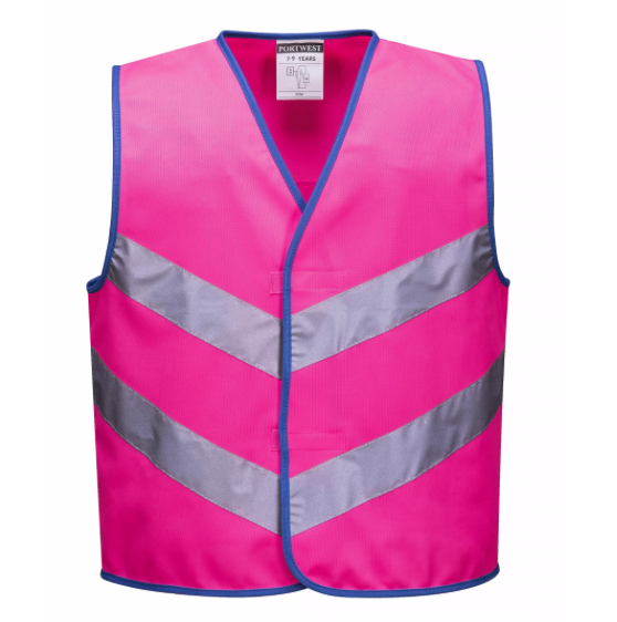 Kids High Vis Weste Pink S