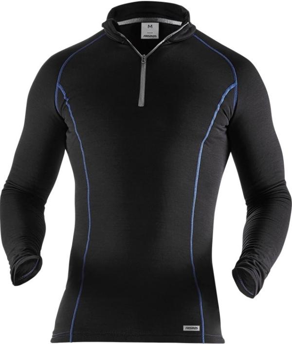 Fristads - Polartec® Zipper-T-Shirt Langarm 7078 PT Schwarz 3XL