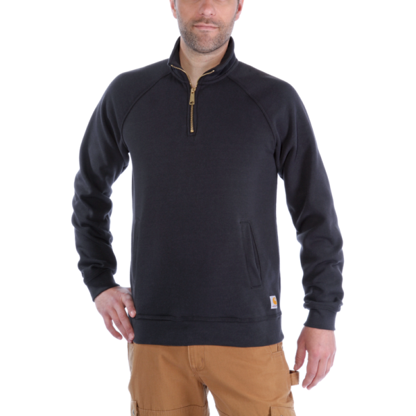 Carhartt - QUARTER-ZIP MOCK-NECK SWEATSHIRT XXL BLACK