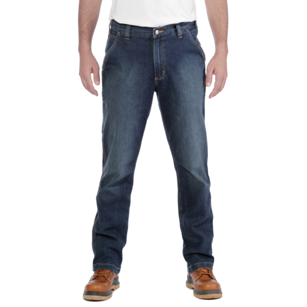 Carhartt - RUGGED FLEX RELAXED DUNGAREE JEAN W44/L30 LIGHT BLUE CHAMBRAY