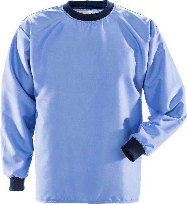 Fristads - Reinraum T-Shirt Langarm 7R014 XA80 Mittelblau 3XL