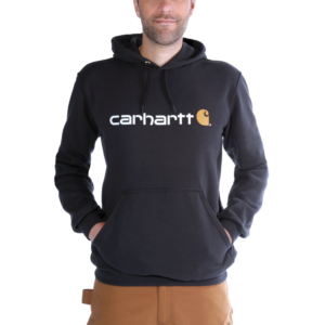 Carhartt - SIGNATURE LOGO HOODED SWEATSHIRT XXL BLACK