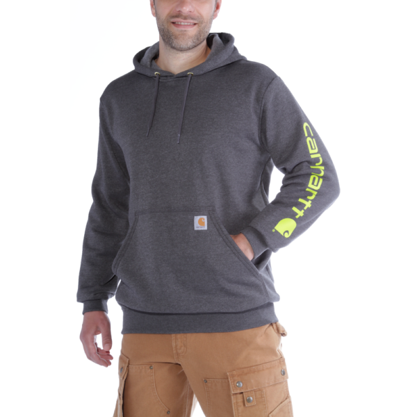 Carhartt - SLEEVE LOGO HOODED SWEATSHIRT XXL CARBON HEATHER