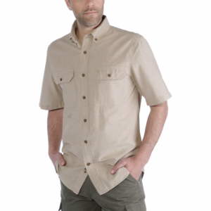 Carhartt - S/S FORT SOLID SHIRT 3XL DARK TAN CHAMBRAY