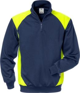 Fristads - Sweatshirt 7048 SHV Marine/Gelb 3XL
