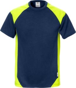 Fristads - T-Shirt 7046 THV Marine/Gelb 3XL