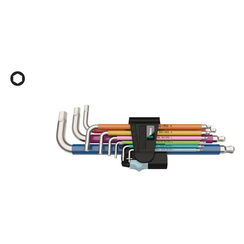 WERA 3950/9 Hex-Plus Multicolour Stainless 1 metrisch