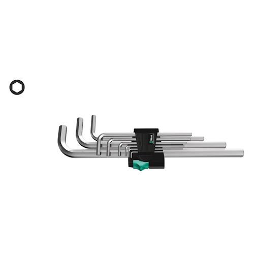 WERA 950/9 Hex-Plus 2 WINKELSCHLÜSSELSATZ metrisch