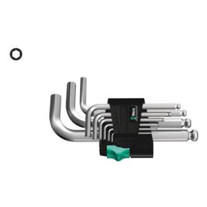 WERA 950/9 Hex-Plus 3 WINKELSCHLÜSSELSATZ metrisch
