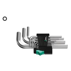 WERA 950/9 Hex-Plus 5 WINKELSCHLÜSSELSATZ metrisch