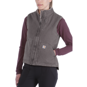 Carhartt - WOMENS SANDSTONE MOCK NECK VEST XL TAUPE GREY
