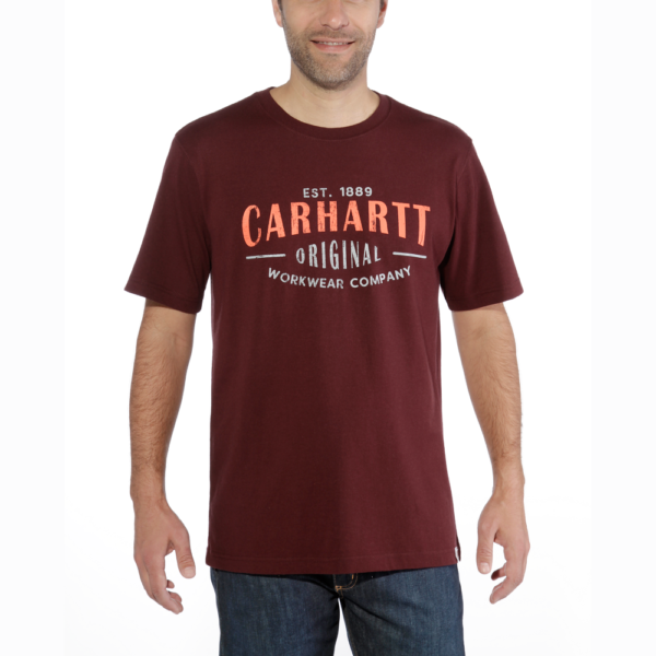 Carhartt - WORKWEAR GRAPHIC S/S T-SHIRT L PORT