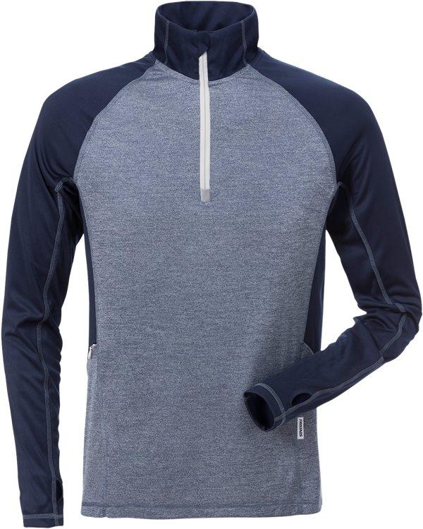Fristads - Zipper-Sweatshirt Langarm 7514 LKN Marine/Blau 4XL