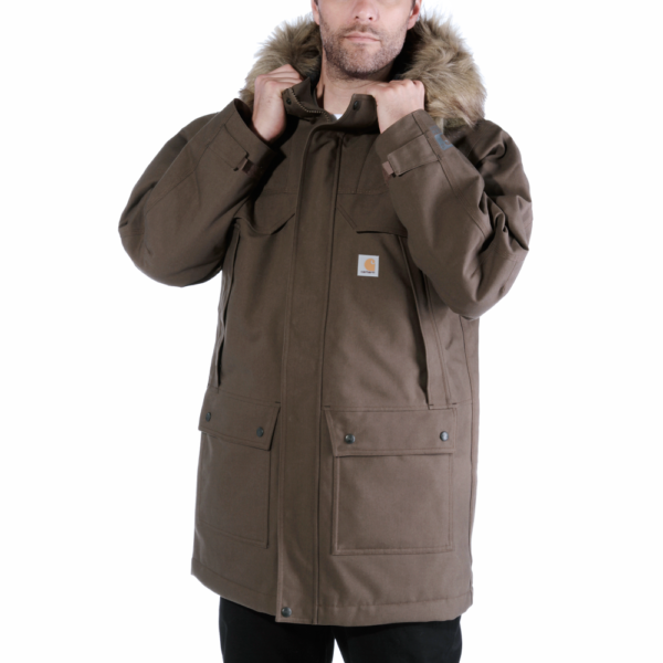 Carhartt - QD SAWTOOTH PARKA S DARK CANYON BROWN
