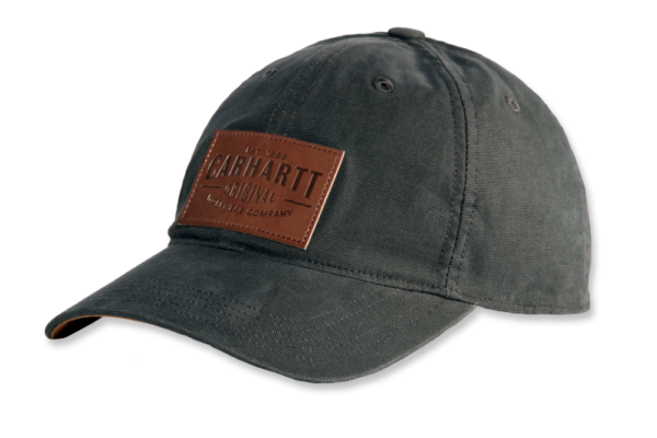 Carhartt - M RIGBY STRETCH FIT LEATHERETTE PATCH CAP M/L PEAT