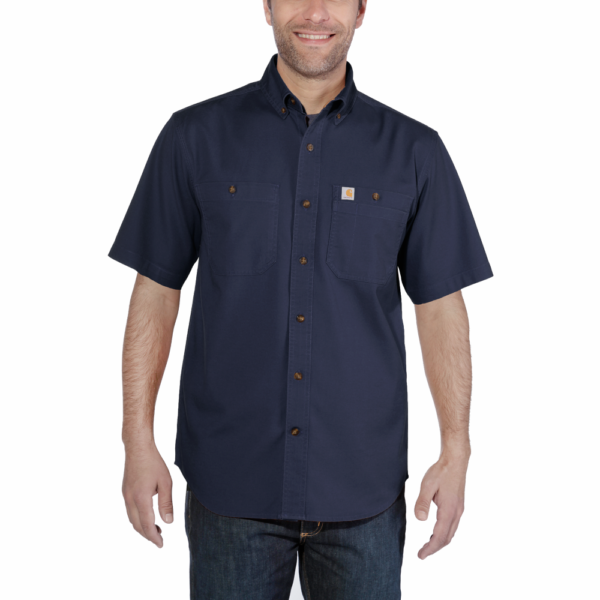 Carhartt - LW RIGBY SOLID S/S SHIRT S NAVY