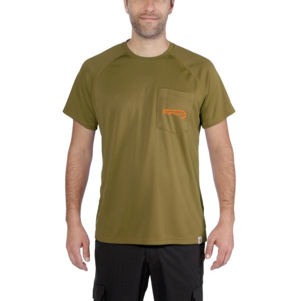 Carhartt - FISHING T-SHIRT S/S XS FIR GREEN