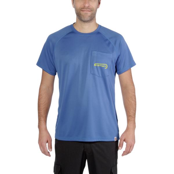 Carhartt - FISHING T-SHIRT S/S XS INF. BLUE HEATHER