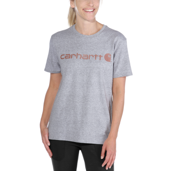 Carhartt - WK195 WORKW LOGO GRAPHIC S/S T-SHIRT XS HEATHER GREY