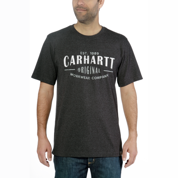 Carhartt - WORKWEAR GRAPHIC S/S T-SHIRT S CARBON HEATHER