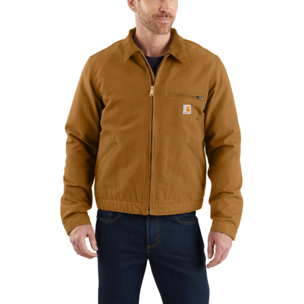 Carhartt - DUCK DETROIT JACKET S CARHARTT® BROWN
