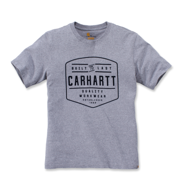 Carhartt - BUILD BY HAND T-SHIRT S/S XS HEATHER GREY
