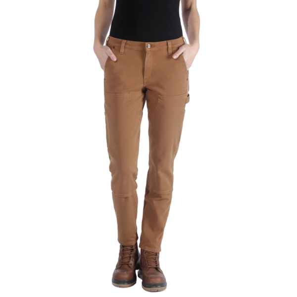 Carhartt - STRETCH TWILL DOUBLE FRONT TROUSERS W2/REG CARHARTT® BROWN