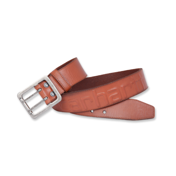 Carhartt - LOGO BELT W34 CARHARTT® BROWN