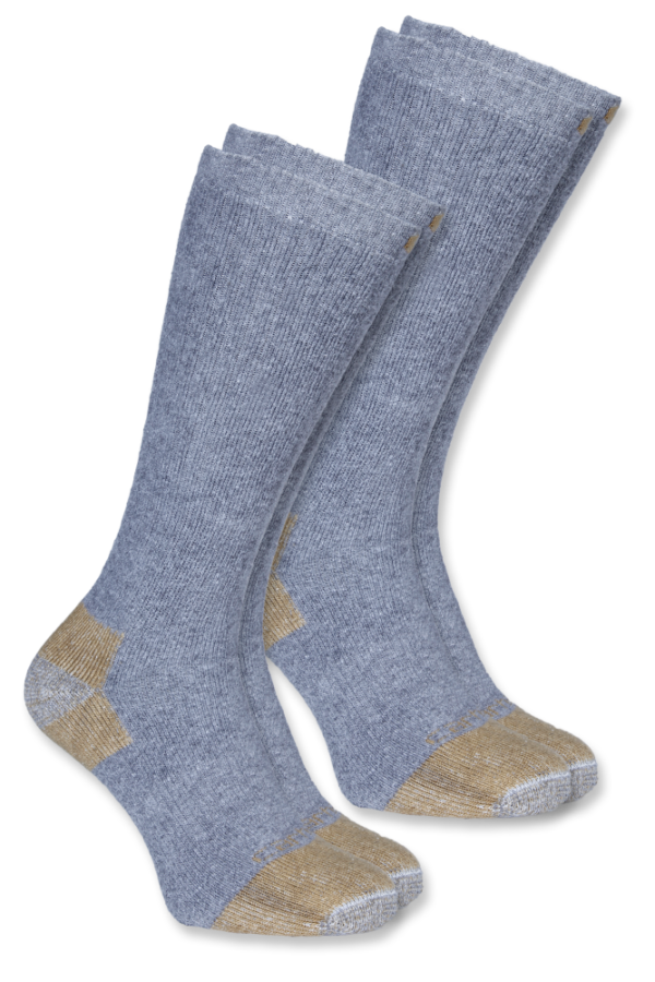 Carhartt - STEEL TOE BOOT SOCK 2-PAIR L GRAY