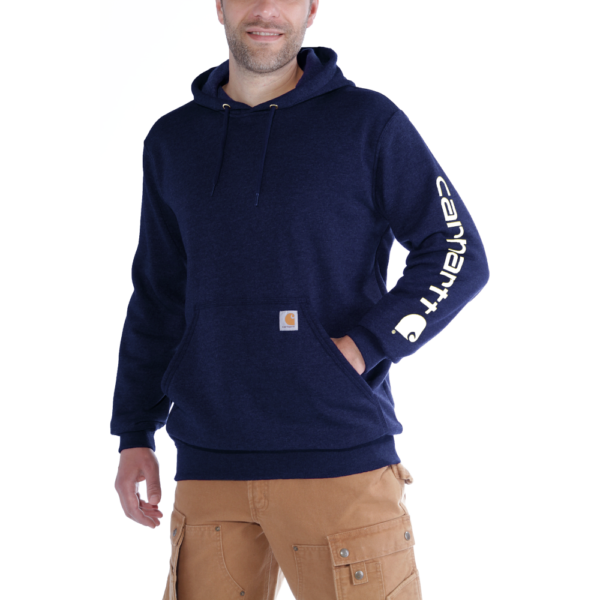 Carhartt - SLEEVE LOGO HOODED SWEATSHIRT XS NEW NAVY