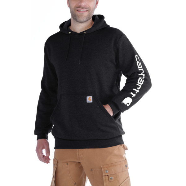 Carhartt - SLEEVE LOGO HOODED SWEATSHIRT XS BLACK