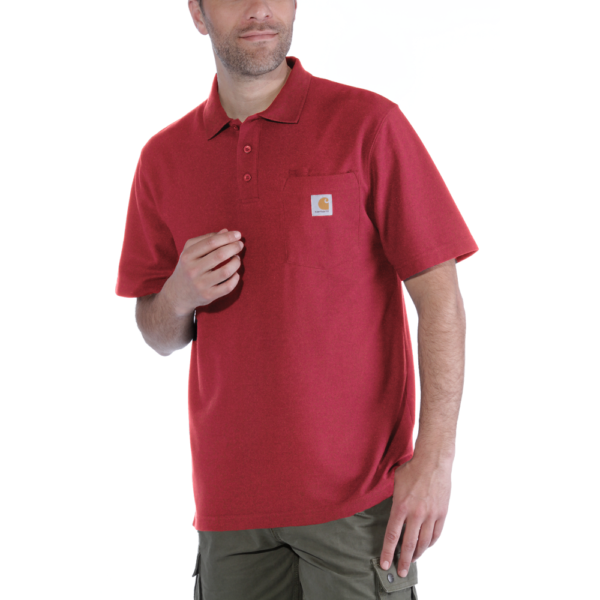 Carhartt - WORK POCKET POLO S/S XS RED