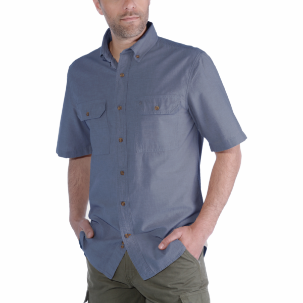 Carhartt - S/S FORT SOLID SHIRT S DENIM BLUE CHAMBRAY