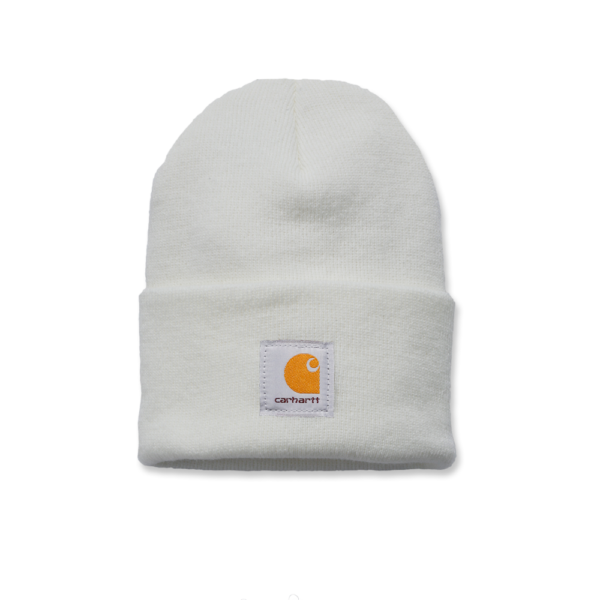 Carhartt - ACRYLIC WATCH HAT OFA WINTER WHITE