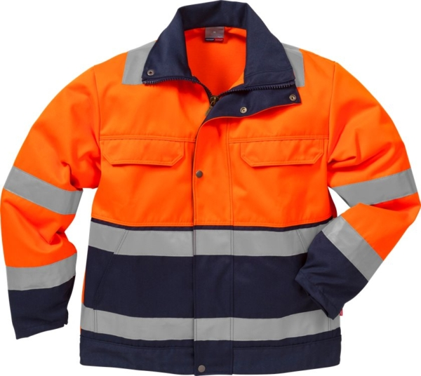 Fristads - High Vis Jacke Kl. 3 4794 TH Warnschutz-Orange/Marine XS
