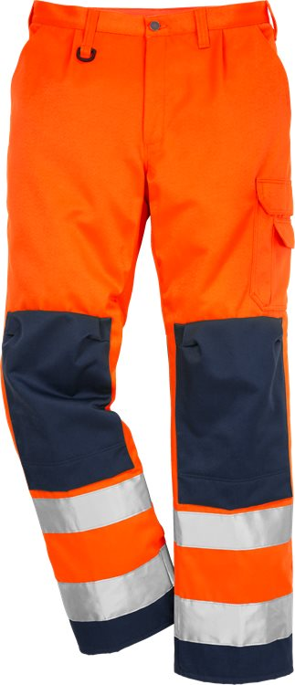 Fristads - High Vis Hose Kl. 2 2001 TH Warnschutz-Orange/Marine C44