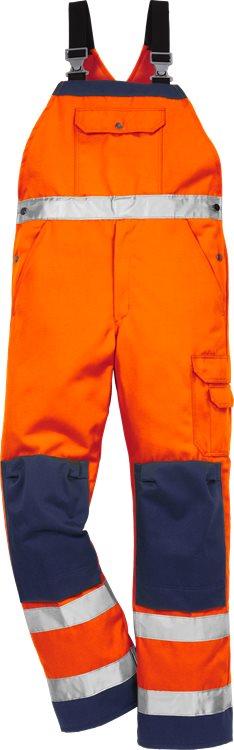 Fristads - High Vis Latzhose Kl. 2 1001 TH Warnschutz-Orange/Marine C44