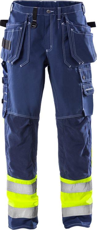 Fristads - High Vis Handwerkerhose Kl. 1 247 FAS Blau C44