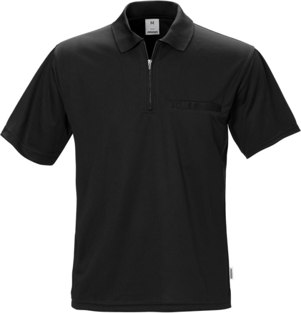 Fristads - Coolmax® Poloshirt 718 PF Schwarz XS