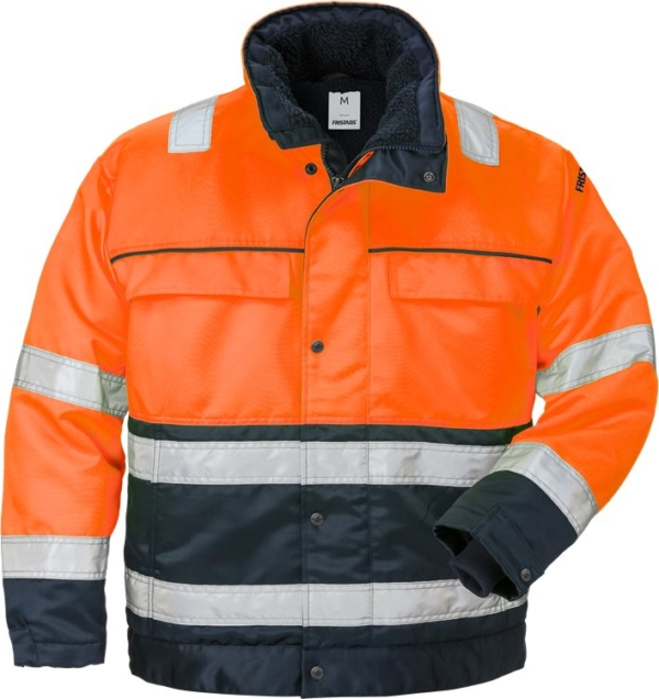 Fristads - High Vis Winterjacke Kl. 3 444 PP Warnschutz-Orange/Marine XS