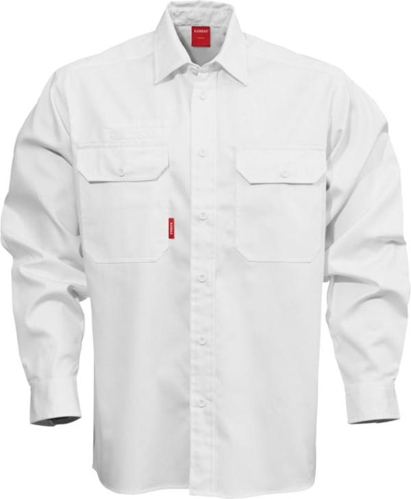 Fristads - Baumwoll-Hemd Langarm 7386 BKS Weiß S