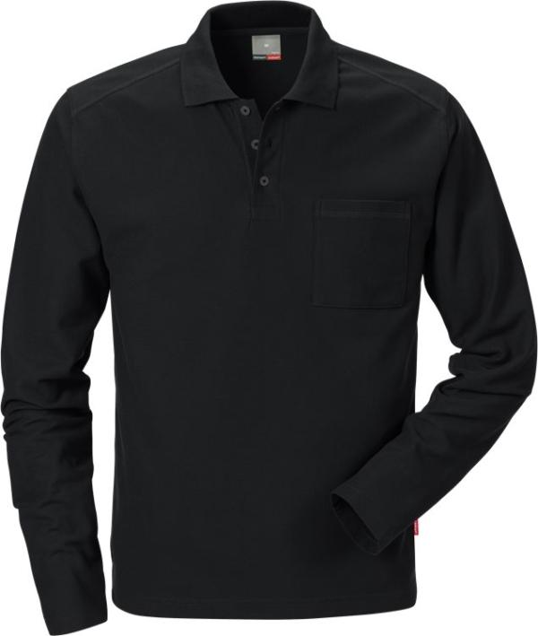 Fristads - Poloshirt Langarm 7393 PM Schwarz XS