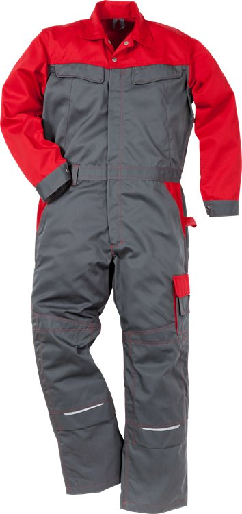 Fristads - Icon Two Overall 8612 LUXE Grau/Rot XS