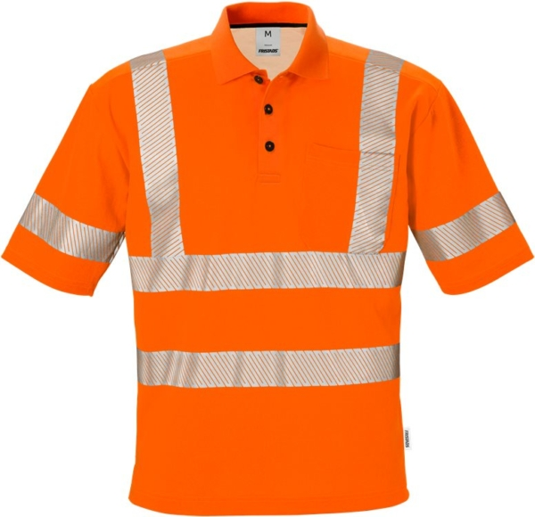 Fristads - High Vis Poloshirt Kl. 3 7406 PHV Warnschutz-Orange XS